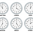 Foto Stock: Business clocks