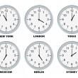 Business clocks — Stock Photo