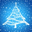 Christmas tree blue 2 — Stock Photo