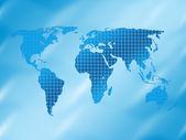 Carrés de fond et de la carte du monde — Photo