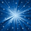 Blue stars vector background - Vettoriali Stock