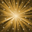 Gold stars vector background - Stock Vector