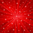 Red stars vector background — Stockvektor