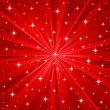 Red stars vector background - Stock Vector