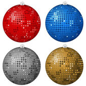 Abstract Christmas balls 3 — Stock Vector