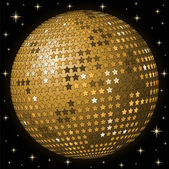 Abstract gold ball background — Stock Vector
