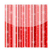 Snowflakes stripes background red — Stock Vector