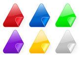 Triangular color stickers 2 — Stock Vector