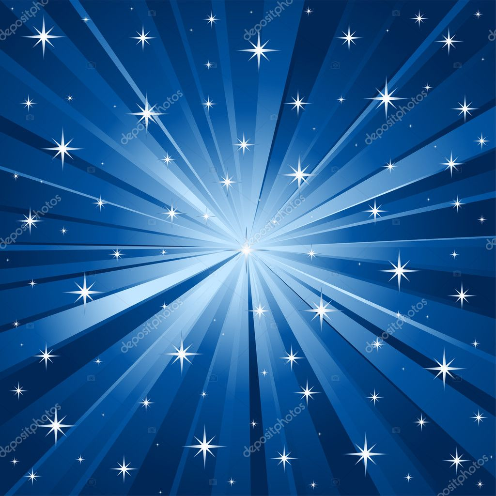 Abstract blue vector background with stars. — Stock Vector #2678624