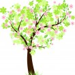 Beautiful floral tree — Stockvectorbeeld