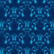 Royalty-Free Stock Vector Image: Seamless blue damask background