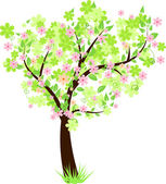 Beautiful floral tree — Stock vektor