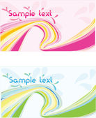 Vector two abstract wave design banner — Stock Vector