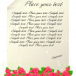 Royalty-Free Stock Vektorgrafik: Vintage letter template with red roses