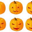 Royalty-Free Stock Imagen vectorial: Halloween pumpkins variation