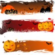 Stock Vector: Halloween banners grungy