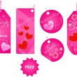 Royalty-Free Stock Vector: Set of valentine