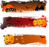 Halloween banners grungy — Stock Vector