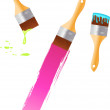 Royalty-Free Stock Imagem Vetorial: Multicolored paintbrushes