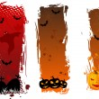 Vertical grungy halloween banners — Stock Vector