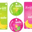 Sale shopping labels - spring and fruit — Stock Vector