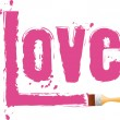 "Stock Vector: Brush paint word ""love"""