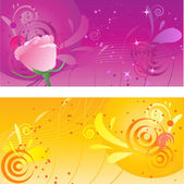 Pretty backgrounds with swirl design — Stock Vector
