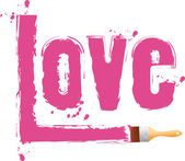 "Brush paint word ""love"" — Stock Vector"
