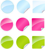 Set of multicolored badges — Stock Vector