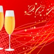 Vector de stock : New Year Eve background with champagne g
