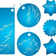 Royalty-Free Stock Vector Image: Blue christmas shopping badges