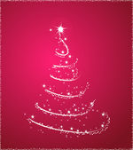 Pink christmas tree — Stock Vector