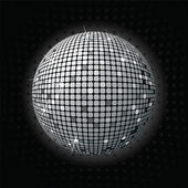 Shiny disco ball greey — Stock Photo