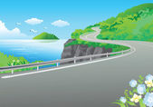 Road at the sea — Stock Photo