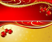 Christmas background red and gold — Stock Photo