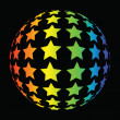 Colorful star background — Photo