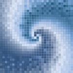Blue abstract spirals mosaic — Stock Photo