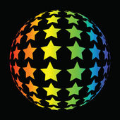Colorful star background — 图库照片