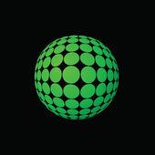 Green ball — Stock Photo