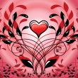 Spirial decorative patten and heart — Foto Stock
