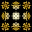 Golden ornamental background on black — Stock Photo #1177412