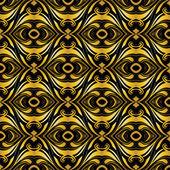 Gyllene dekorativa bakgrund på svart — Stockfoto