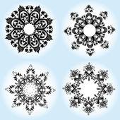 Vector illustration of Christmas snowfla — Stock Photo
