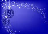 Image christmas blue balls — Stock Photo