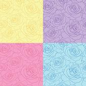 Seamless vector roses — Stock Vector