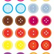Stock Vector: Button variation set