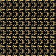 Gold pattern on black background 4 — Vecteur #2076477