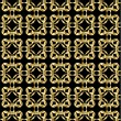 Stockvector : Gold pattern on black background 2