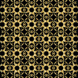 Stockvector : Gold pattern on black background 5