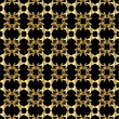 Gold pattern on black background 1 — Vecteur #2076628